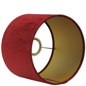 Lampenkap bordeaux cilinder San remo goud detail