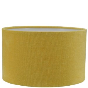 Lampenkap geel katoen cilinder TLI0128