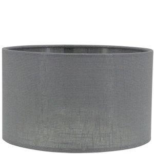 Lampenkap grijs linnen cilinder TCA81