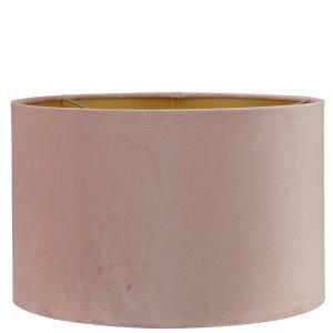 Lampenkap roze velvet cilinder TSR04G