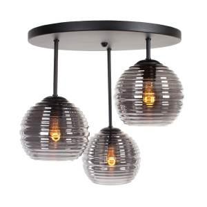 Plafondlamp smoke Fantasy globe 3 lichts