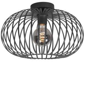 Plafondlamp zwart Bolato 38cm