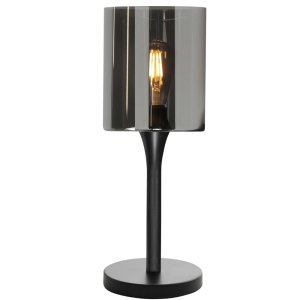Tafellamp zwart Diverso 34cm