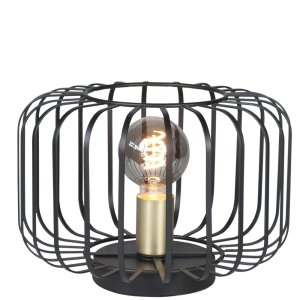 Tafellamp zwart Lucca 20cm