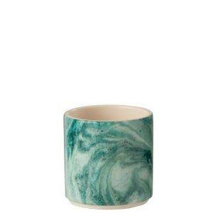 Bloempot groen Azuur 10cm