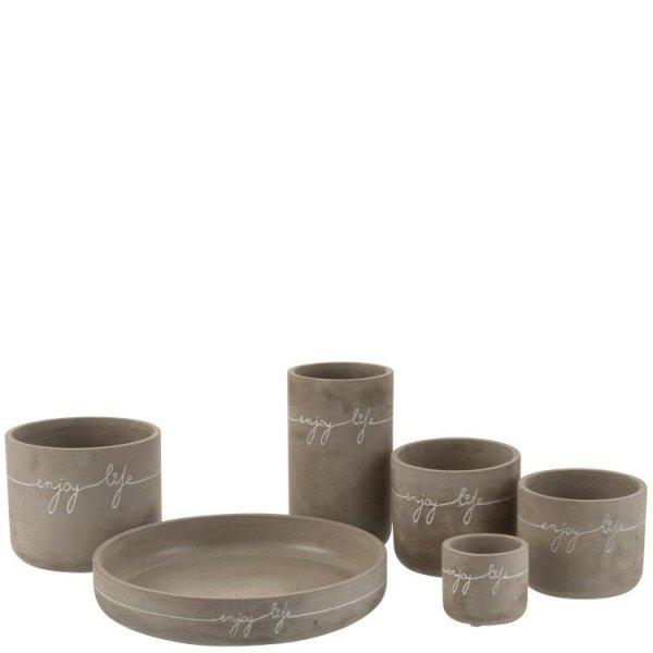 J-line serie potten en vazen enjoy