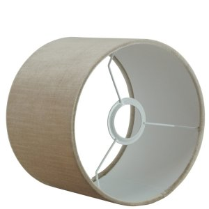 Lampenkap beige velvet cilinder TVE03 detail