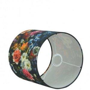 Lampenkap bloemenprint katoen cilinder TRUK0