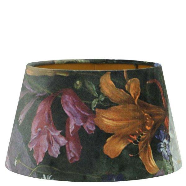 Lampenkap bloemenprint velvet halfhoog TVIV00