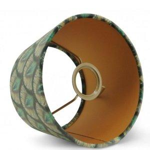 Lampenkap pauw groen velvet halfhoog TCLV00 detail
