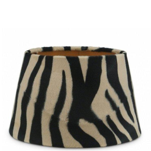 Lampenkap zebra velvet halfhoog TSV16G