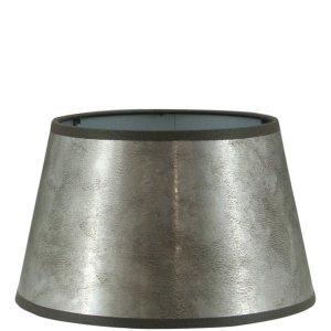 Lampenkap zilver halfhoog TPL05