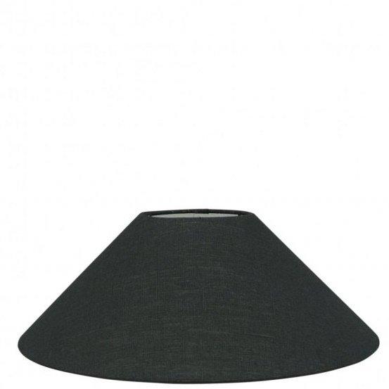 Lampenkap zwart linnen chinees TLN20