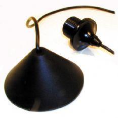 Pendel lampenkap zwart kunststof 1 lichts