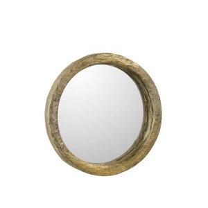 Spiegel goud rond polyresin 25cm