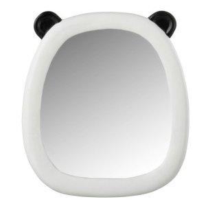 Spiegel wit panda polyresin 28cm
