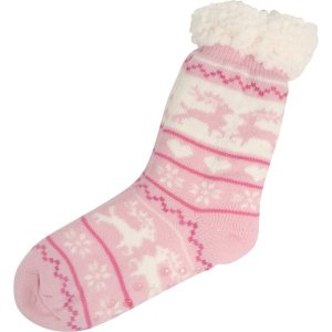Huissokken roze rendier hartje 36-41