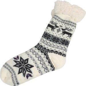 Huissokken wit sneeuwvlok 36-41