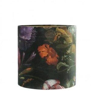 Lampenkap bloemenprint velvet 30x35