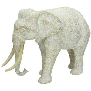 Ornament olifant wit 25cm