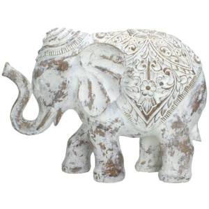 Ornament olifant wit 30cm