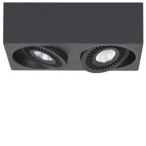Spot zwart Eye 2 lichts