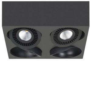 Spot zwart Eye 4 lichts