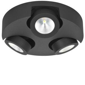 Spot zwart Montreal 3 lichts