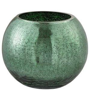 Waxinelichthouder craquele groen 16cm