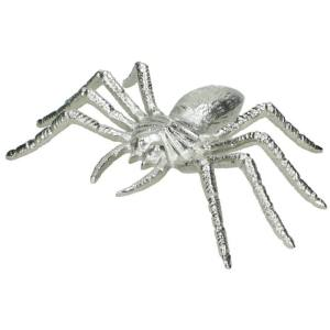 Ornament insect zilver spin 7cm
