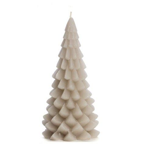 Kerstboom kaars linnen 10x20cm