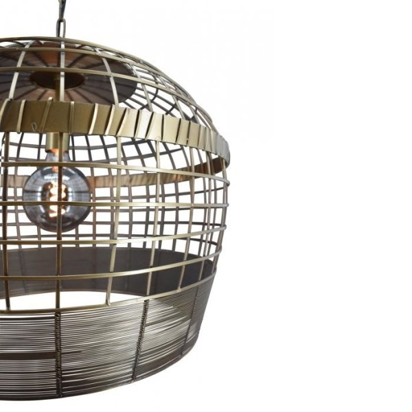 Hanglamp brons Caprice 50cm detail 2