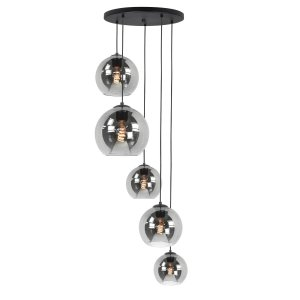 Hanglamp smoke fantasy Max 5 lichts