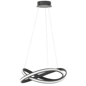 Hanglamp zwart Waves 55cm