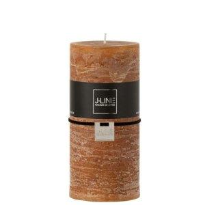 Stompkaars rustiek caramel 7x15cm