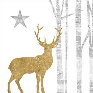 Servetten Mystic Deer goud 33x33