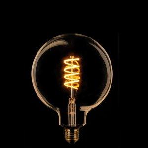Lichtbron LED Globe 125mm spiraal goud 8W dimbaar