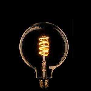 Lichtbron LED Globe 125mm spiraal goud scene switch