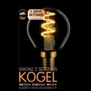 Lichtbron LED Kogel spiraal smoke scene switch E14