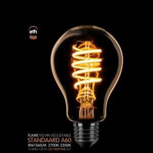 Lichtbron LED Standaard spiraal goud dimtone