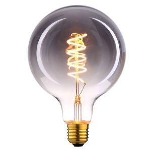 Lichtbron LED Globe 95mm spiraal rookglas scene switch