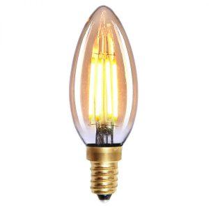 Lichtbron LED Kaars staaf amber 4W dimbaar