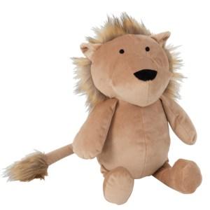 Deco knuffel leeuw beige 33cm