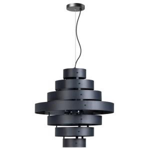Hanglamp antraciet Blagoon 7 rings
