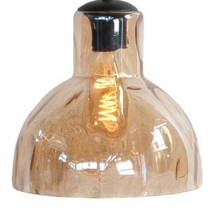 Lampenkap glas amber Clock 22cm