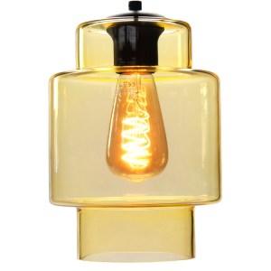 Lampenkap glas geel Moderno 16cm