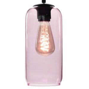 Lampenkap glas roze Jack 12cm