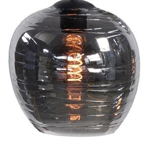 Lampenkap glas smoke Apple 22cm
