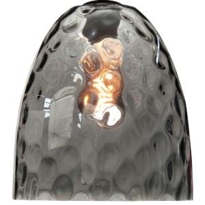 Lampenkap glas smoke Bubble 25cm