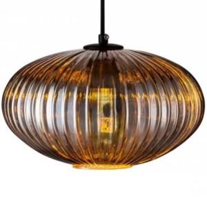Lampenkap glas smoke Lido 30cm detail